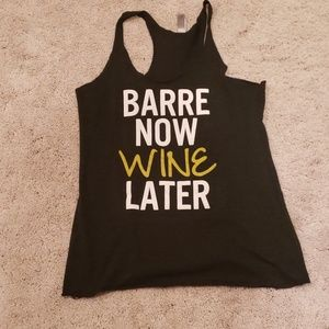 Barre Now Wine Later graphic tank